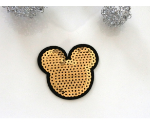 Patch mit Pailletten - Mickey