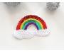 Patch mit Pailletten - Regenbogen