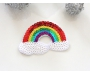 Patch mit Pailletten - Regenbogen