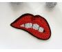 Patch mit Pailletten - Lippen