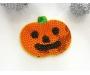 Patch mit Pailletten - Halloween Kürbis