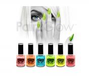 Paint Glow - UV Glitter Nagellack 6er Set