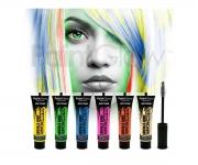 Paint Glow - Glow in the Dark  Haar Mascara 6er Set