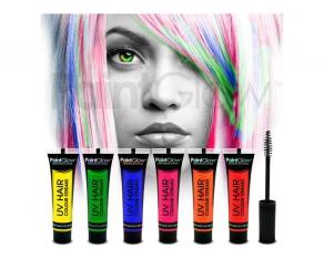 Paint Glow - UV Haar Mascara 6er Set
