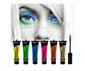 Paint Glow - Glow in the Dark Mascara 6er Set