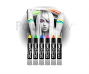 Paint Glow - Glow in the Dark Paint Stick 6er Set