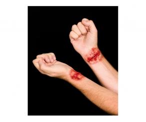 2er Set Schnittwunde Handgelenk - Latexwunde